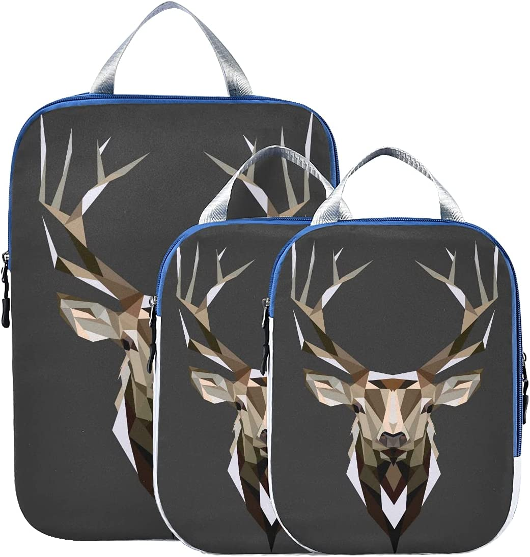 Max 43% OFF Packing Cubes Compressible Deer Low C Translated Poly