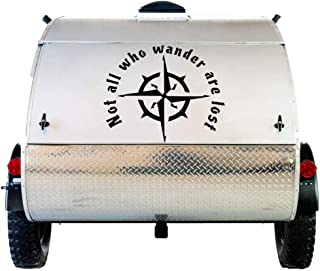 """ViaVinyl Not All Who Wander are Lost Decal. Great for RVs, Campers, Vans and Jeeps! Perfect for Travelers, Nomads, Backpackers and More! Click for Size and Color Options! (24"""", Black)"""