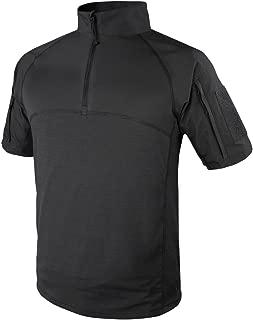 Outdoor Tactical Short Sleeve Combat Shirt (Large, Black)