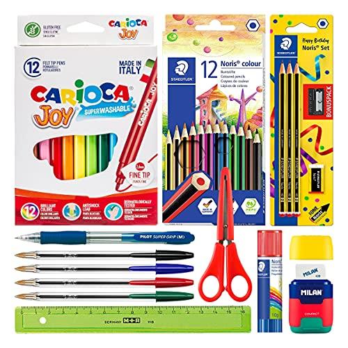 ColePack Basic - Pack Ahorro Completo de Material Escolar de Primeras Marcas para tu Estuche