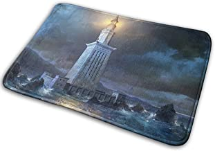 Fantastic Blue Decor Rugs Awesome Lighthouse in Stormrain Non Slip Easy Clean Resistant Shed Bath Mat Mat 40W X 60L Inches