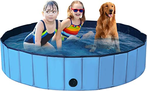 lowest Giantex Foldable Pet Swimming Pool Dog Bath Pool with Anti-Slip discount Bottom, Portable PVC Pets Bathing Tub sale Kiddie Pools for Dogs Cats Kids, Easy to Drain, Collapsible Dog Pet Pool outlet sale