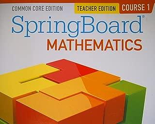 SpringBoard Bathematics, Common Core Edition, Course 1 Teacher Edition