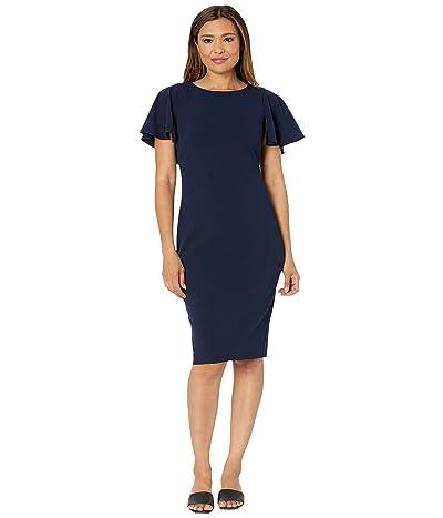 Calvin Klein Flutter Sleeve Sheath Dress