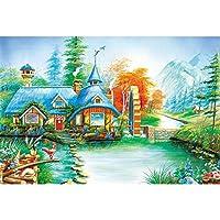 ジグソーパズル平和カントリーライフ装飾油絵教育玩具高難易度IQチャレンジゲーム500/1000/1500ピース (Color : Partition, Size : 1000 pcs)