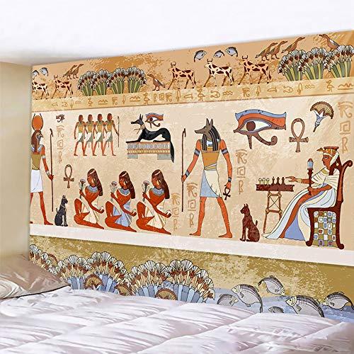 KHKJ Pirámide egipcia Antigua Mural decoración del hogar Tapiz Escena psicodélica Tapiz Decorativo Bohemio Hoja de Cama A4 150x130cm
