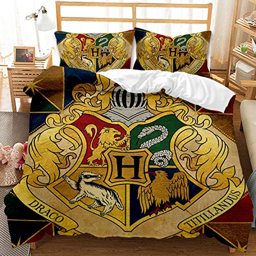QXbecky Anime Lion, Ferret, Eagle, Snake, Bedding, Quilt Cover, Pillowcase, 3-Piece Set, Warm, Breathable, and Comfortable for Sleep 230x260cm