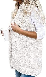 Women Winter Sleeveless Casual Faux Fur Vest Coat Sleeveless Waistcoat