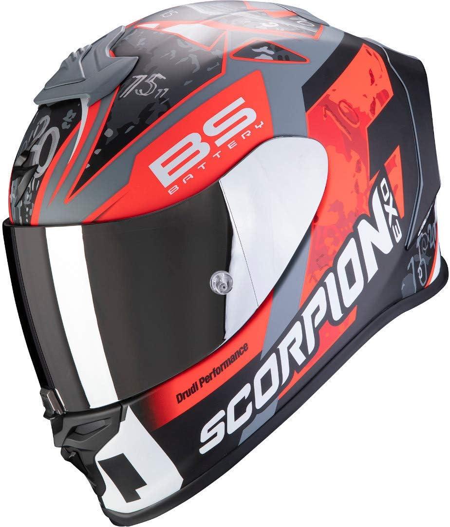 Scorpion Herren Nc Motorrad Helm Schwarz Rot Xl Auto