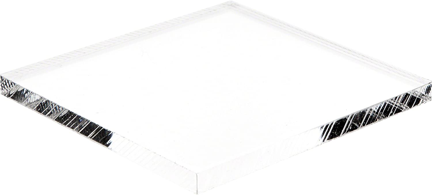 Plymor Clear Cheap Acrylic Square Luxury Standard-Edge Base Display 0.25
