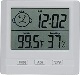 Digital Hygrometer Thermometer Indoor Humidity Temperature Time Monitor with Large LCD Display