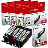 Canon AMACABUNDLE43 Inkjet Cartridge - Black/Yellow/Magenta/Cyan (Pack of 5)
