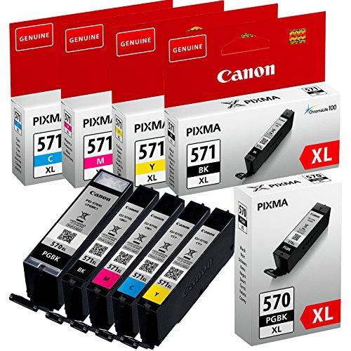 Canon AMACABUNDLE43Tintenkartuschen für Tintenstrahldrucker, Schwarz/Gelb/Magenta/Cyan, 5-teiliges Set