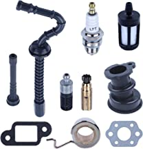 Adefol Intake Manifold Boot Oil Pump Worm Gear Fuel Oil Hose Filter Kit for Stihl 025 023 021 MS250 MS230 MS210 Chainsaw Parts 11231412200 11236403200