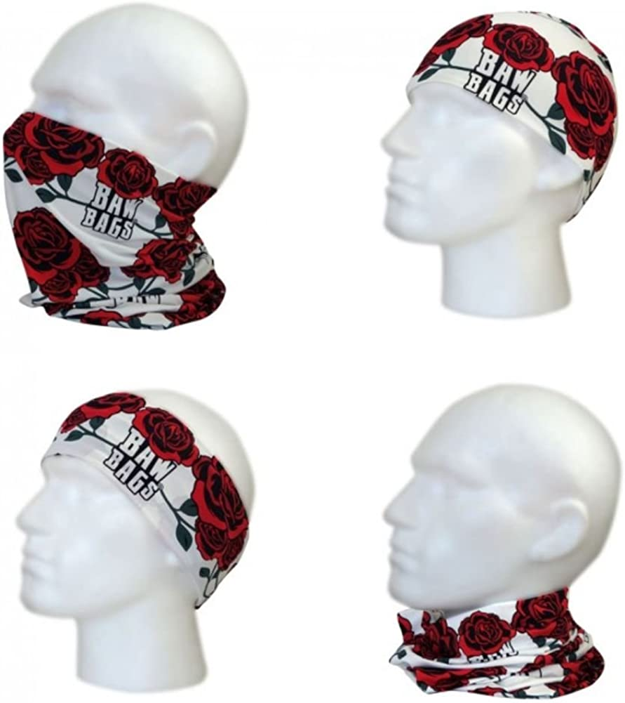 BawBags Roses Multi Sleeve Bandana Facemask SEAL limited product Selling rankings Beanie Scarf