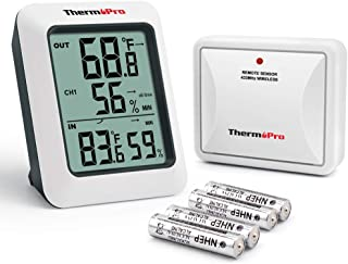 ThermoPro TP60S Digital Hygrometer Indoor Outdoor Thermometer Wireless Temperature and..