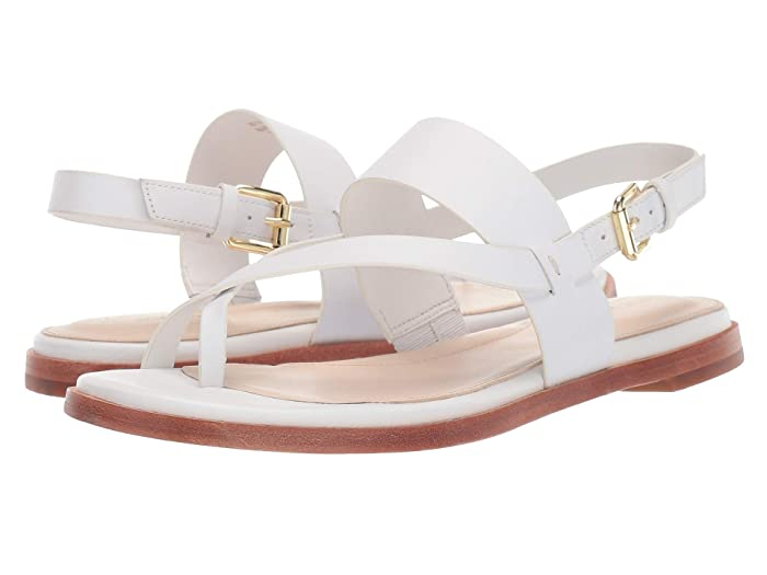Cole Haan  Anica Thong Sandal (Optic White Leather) Womens Dress Sandals