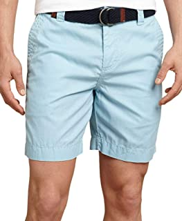 TOMMY HILFIGER Men's Flat Front Classic Fit Chino Short, Omphalodes, 36W