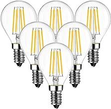 ANWIO E14 LED filament vervangt 40W gloeilampen, draadlamp, warm wit, 2700K, 4W P45 LED-lampen, 470lm, niet dimbaar, verpa...