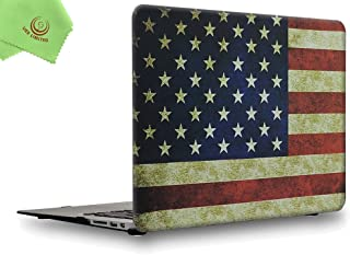 UESWILL Rubberized Unique Pattern Solid Hard Shell Case Cover for MacBook Air 13 inch (Models: A1369/A1466) + Microfibre C...