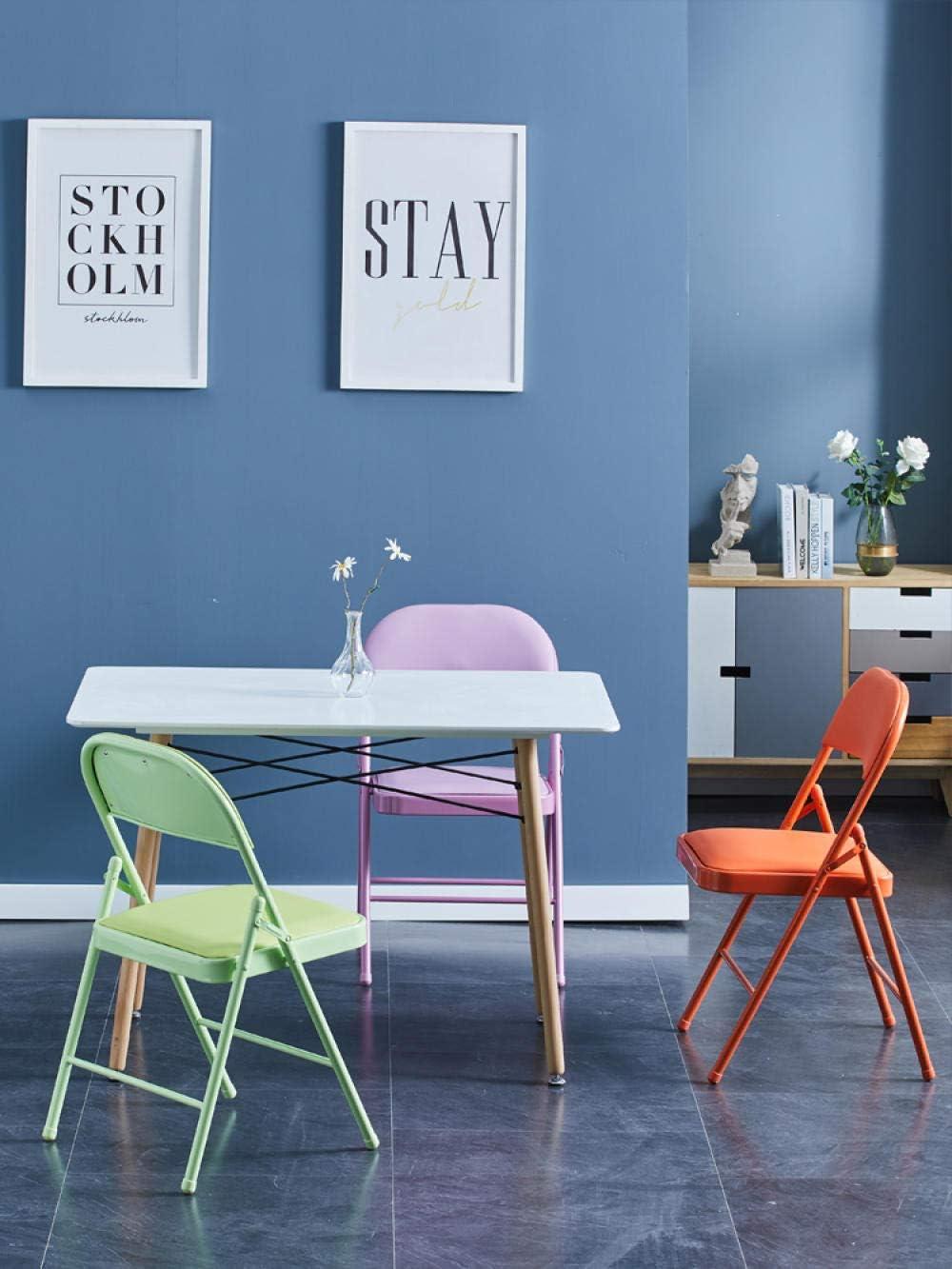 KLJLFJK Lot de 2 chaises pliantes pour cuisine, salle à manger, chambre à coucher, bureau, bleu Noir