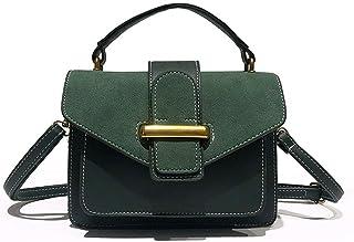 Shoulder Bag Women/Fashion Handbag/All-Match/Fashion, Square Bag, Slanting, Harbor Wind, Retro, Single Shoulder Bag Handbag Clutch (Color : Green)