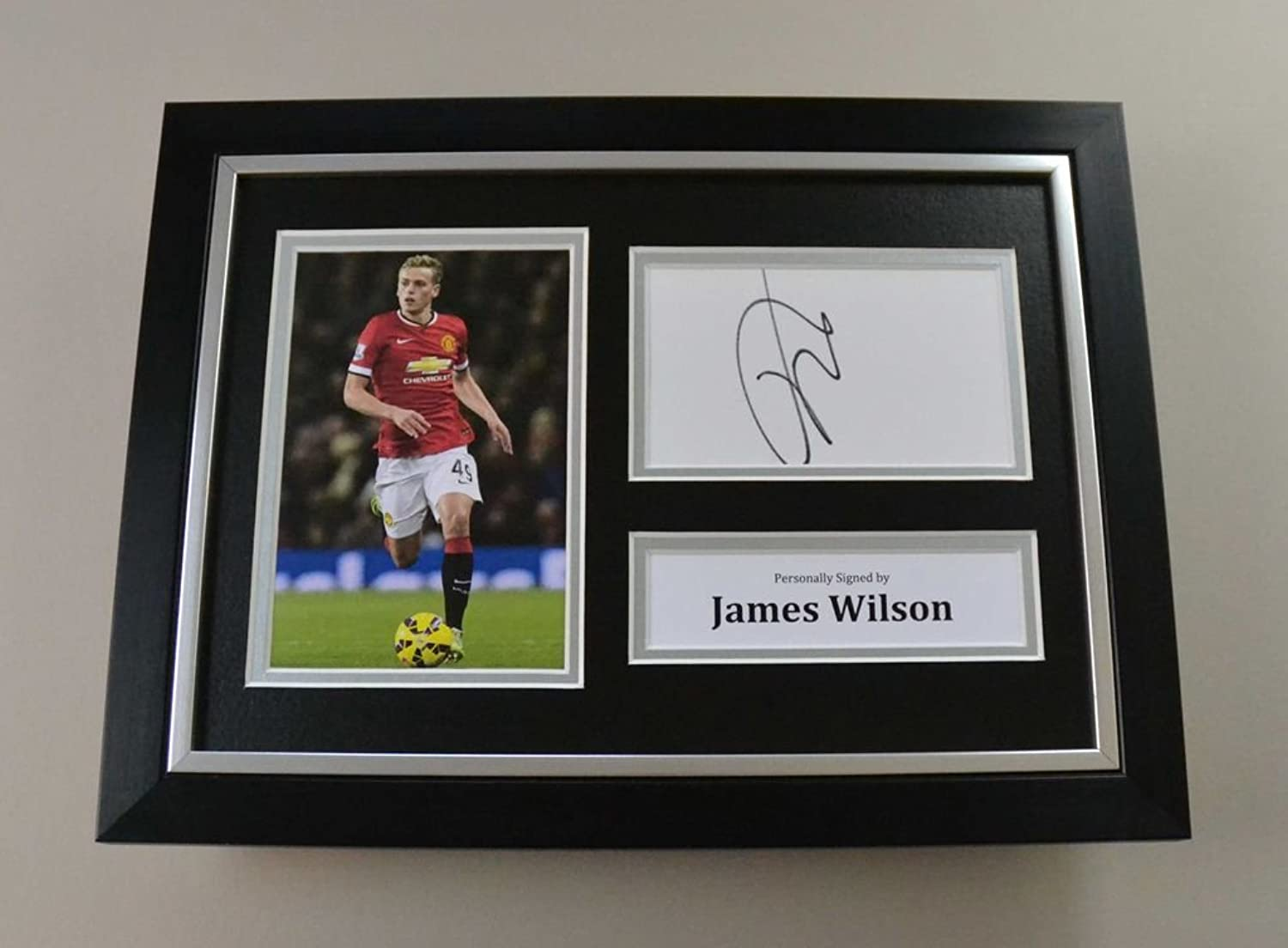 James Wilson Signed A4 Photo Framed Man Utd Autograph Display Memorabilia + COA