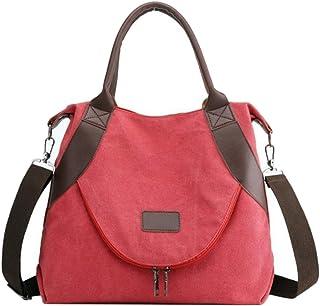 SODIAL Damen Tasche Handtaschen UmhNgetasche Segeltuch Tasche für Frau Big Bag Segeltuch Schulter Tasche Weibliche Handtaschen Khaki