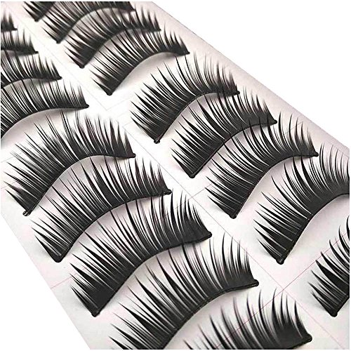 AKAAYUKO 10 Paires Faux Cils Natural Maquillage Extension #F-3