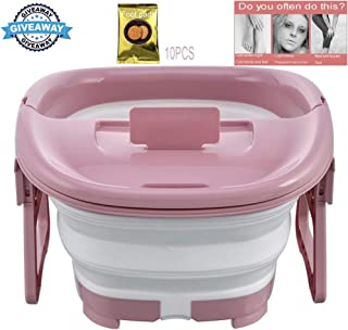 Foot Massagers, Foldable Foot Soaking Bath Tub With Foot Pads Portable Travel Foot Soaking Tub Roller Foot Spa Massage Bucket Health Care