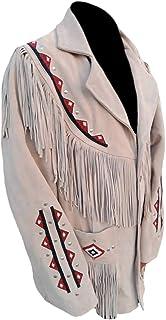 SleekHides Men's Western Suede Leather Jacket with Fringes