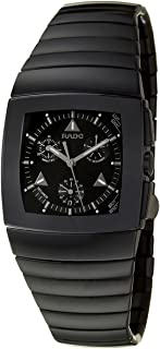 Rado Sintra Chronograph Black Ceramic Mens Quartz Watch Black Dial Calendar R13764152
