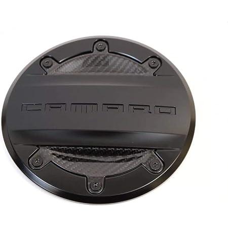 2016-2018 Chevrolet Camaro Fuel Door 23227139 Black w/ Carbon Fiber Inserts