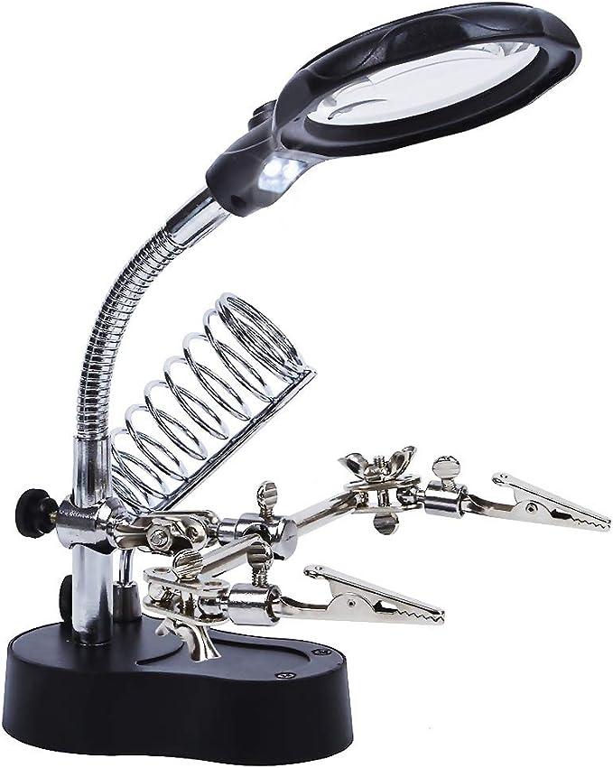 673 opinioni per ENJOHOS LED Illuminato 3.5X 12X Lente d'ingrandimentoHelping Hands Magnifier