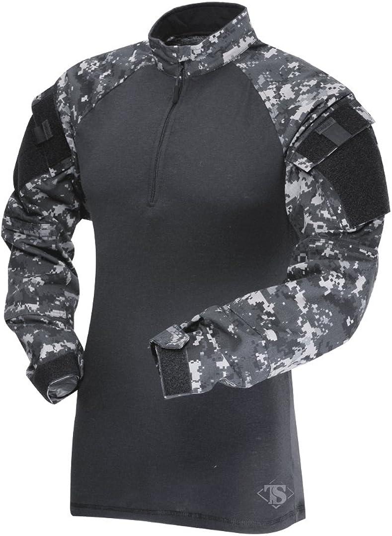 Tru-Spec 2565004 Men/'s OD Green Poly Cotton TRU 1//4 Zip Combat Shirt Med Reg