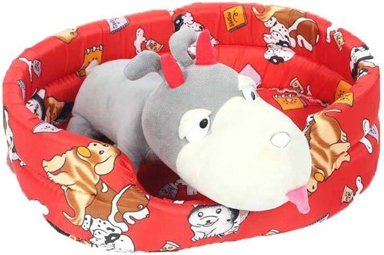 Dixinla Pet Bed Pet Nest Cushion Kennel Pet Cotton Nest Four Seasons General pet Mat Supplies 63  53  15cm