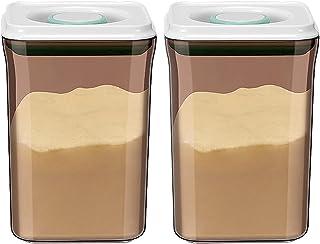 Pkfinrd 2pcs Push-Botton Aurance Stockage Alimentaire pour la Farine de Sucre Pâtes Riz Riz Céréales & Coffe'-Boffefe'wn P...