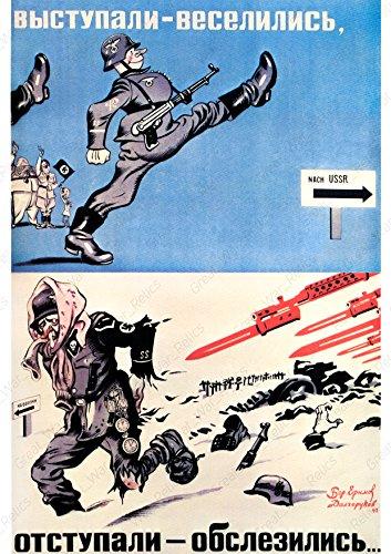 1941Poster–2. Weltkrieg Russisch Funny Anti Hitler Propaganda, Anti Nazi Deutsch Adolf Prints Fun Lustige Bilder LOL Cool Witz Geschenk, Weltkrieg 2II Militaria 11.7x16.5 Multi Color