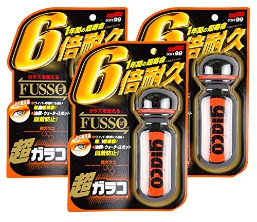 3x SOFT99 Ultra Glaco Scheibenversiegelung wasserabweisend Regenabweiser 70 ml