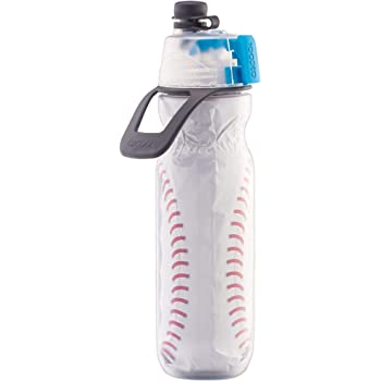 NEW O2Cool Mist /'N Sip Squeeze Trigger Water Bottle Blue Spark