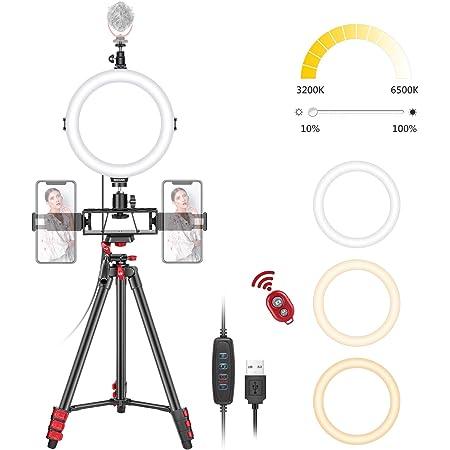 Neewer 8 Zoll Selfie Ringlicht Mit Stativständer 3 Kamera