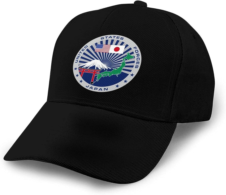 U.S. Army Seal in Japan Baseball Hat Splicing Curved Brim Unisex Breathable Comfortable Baseball Cap Black