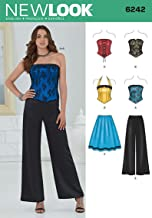 Simplicity Creative Patterns New Look 6242 Misses' Corset Top, Pants and Skirt, A (4-6-8-10-12-14-16)