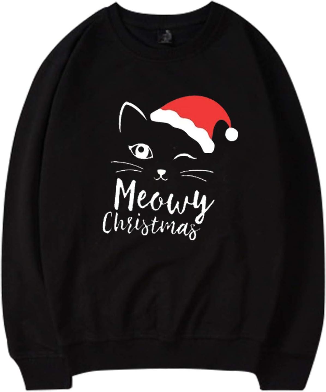 Gwewei4df 2021 Merry Christmas Max Sale item 81% OFF Tops Womens Casual Lon Sweatshirt
