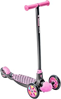 Yvolution Y Glider Deluxe   Three Wheel Kick Scooter for Kids with Safety Brake for Children Ages 3+ Years