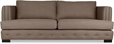 Amazon.com: Moes Home Transitional Girona Sofa with Dark ...