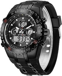 Men`s Watch, Outdoor Sports Electronic Watch, LED Watch, Stopwatch Waterproof Digital Analog Watch