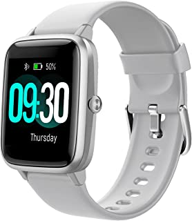 Willful Smart Watch for Android Phones and iOS Phones Compatible iPhone Samsung, IP68 Swimming Waterproof Smartwatch Fitness Tracker Fitness Watch Heart Rate Monitor Watches for Men Women (Gray)