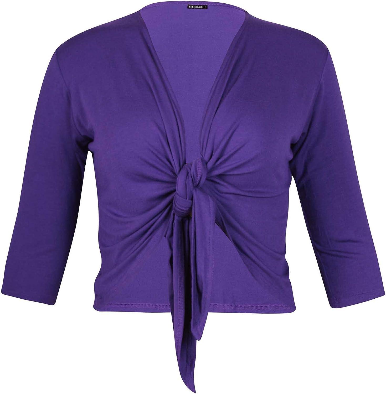 PurpleHanger Women's Plus Size Tie Shrug Bolero Cardigan Shrug Purple Size 12