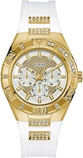 Guess Womens Quartz Watch, Analog Display and Silicone Strap W0653L3